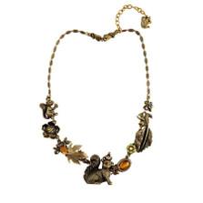 Squirrel Asymmetrical Necklace | La Contessa Jewelry | LCNK9250