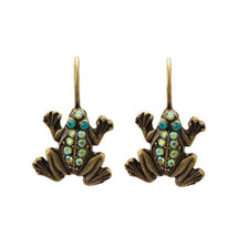 Frog Eurowire Earrings | La Contessa Jewelry | LCER9211