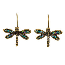 Dragonfly Eurowire Earrings | La Contessa Jewelry | LCER9214