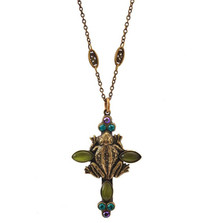 Frog Cross Pendant Necklace | La Contessa Jewelry | LCNK9214