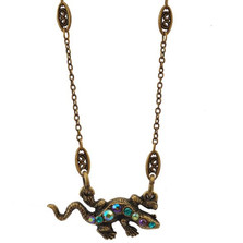 Lizard Pendant Necklace | La Contessa Jewelry | LCNK9215