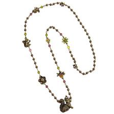 Squirrel Long Chain Necklace | La Contessa Jewelry | LCNK9254