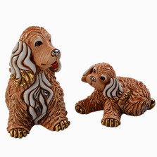 Cocker Dog and Puppy Ceramic Figurine Set | De Rosa | Rinconada | DERF190-F390
