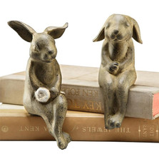 Bunny Shelf Sitters Sculptures | 33517 | SPI Home