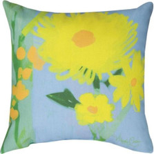 Yellow Flower Throw Pillow | Manual Woodworkers | MWWSLYWFL