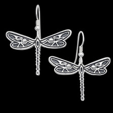 Dragonfly Silver Wire Earrings | Metal Arts Group Jewelry | MAG27101-S