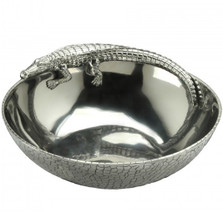 Alligator 12 inch Figural Bowl | Arthur Court Designs | 103692
