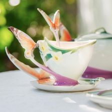 Butterfly Cup Saucer Spoon | xp1693 | Franz Porcelain Collection