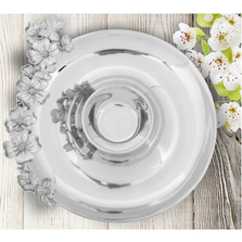 Butterfly and Dogwood Chips and Dip Tray | Arthur Court Designs | 104150
