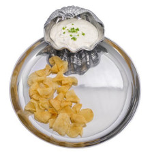 Clam Chip and Dip Tray | Arthur Court Designs | ACD104034