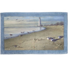 Sandpiper Bath Rug At The Beach | Creative Bath | CBR1023 -2