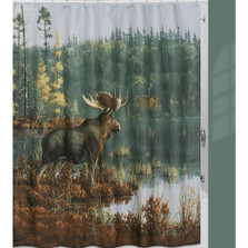 Back Bay Moose Shower Curtain | Creative Bath | CBS1208