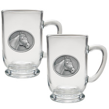 Racehorse Coffee Mug Set of 2 | Heritage Pewter | HPICM229CL