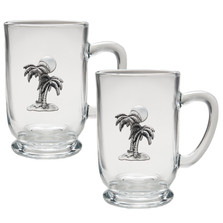Palm Tree Coffee Mug Set of 2 | Heritage Pewter | HPICM4216CL