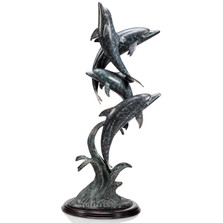 "Dolphin Quartet Sculpture ""Oceanic Ballet"" | 80298 | SPI Home"