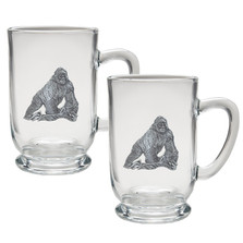 Gorilla Coffee Mug Set of 2 | Heritage Pewter | HPICM3998CL