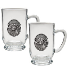 Cape Buffalo Coffee Mug Set of 2 | Heritage Pewter | HPICM239CL