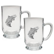 Salmon Coffee Mug Set of 2 | Heritage Pewter | HPICM3690CL