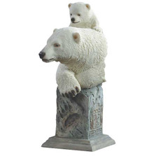 "Polar Bears Sculpture ""Snow Cone"" 