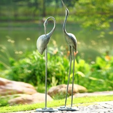 Crane Garden Pair Sculpture | 34280 | SPI Home -2