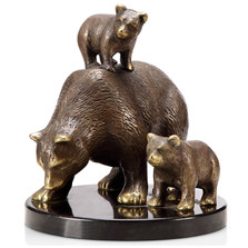 Bear and Cubs Sculpture | Tahoe Trio | 80289 | SPI Home