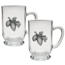 Pine Cone Coffee Mug Set of 2 | Heritage Pewter | HPICM3022CL