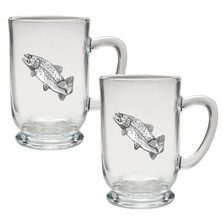 Trout Coffee Mug Set of 2 | Heritage Pewter | HPICM4034CL