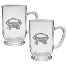 Crab Coffee Mug Set of 2 | Heritage Pewter | HPICM4266CL