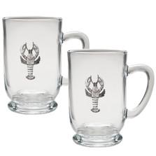 Lobster Coffee Mug Set of 2 | Heritage Pewter | HPICM4068CL