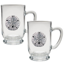 Sand Dollar Coffee Mug Set of 2 | Heritage Pewter | HPICM3300CL