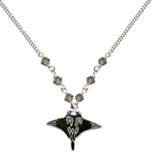 Manta Ray Cloisonne Small Necklace | Bamboo Jewelry | BJ0219sn