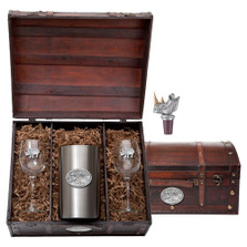 Rhino Wine Chest Set | Heritage Pewter | HPIWSC136
