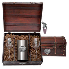 Elephant Wine Chest Set | Heritage Pewter | HPIWSC120