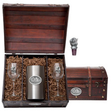 Buffalo Wine Chest Set | Heritage Pewter | HPIWSC101