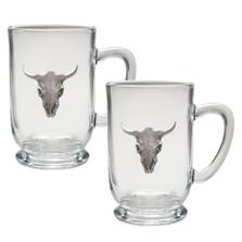 Longhorn Coffee Mug Set of 2 | Heritage Pewter | HPICM3270CL