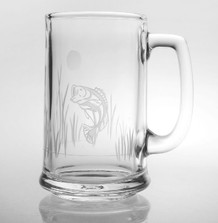 "Bass Beer Mug Set of 4 ""Lake Fish"" 