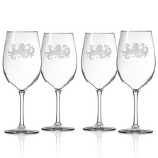 Octopus All Purpose Wine Glass Set of 4 | Rolf Glass | 238265