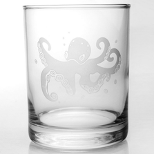 Octopus Double Old Fashioned Glass Set of 4 | Rolf Glass | 238005