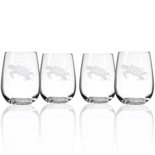 Sea Turtle White Wine Tumbler Set of 4 | Rolf Glass | 234335