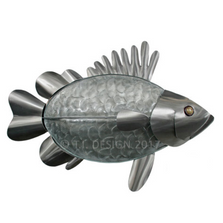 Grouper Glass and Stainless Wall Sculpture | TI Design | G025