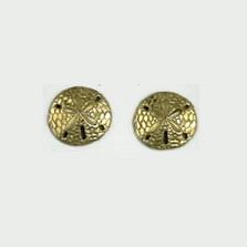 Sand Dollar 14K Gold Post Earrings | Kabana Jewelry | GE382 -2