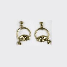Manatee Hoop 14K Gold Post Earrings | Kabana Jewelry | GE525 -2
