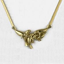 Manatee Group 14K Gold Collar Necklace   Kabana Jewelry   GNK011
