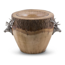 Elk Natural Log Ice Bucket | Vagabond House | B403EK