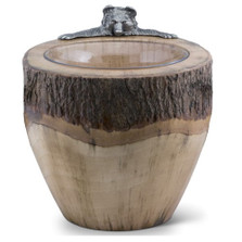 Bear Natural Log Ice Bucket | Vagabond House | S203BC