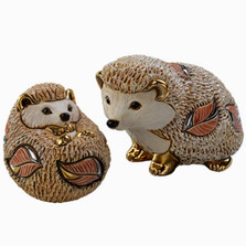 Hedgehog and Baby Ceramic Figurine Set | De Rosa | Rinconada | F192-F392