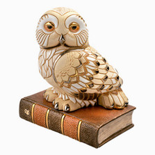 Owl On Book Sculpture | De Rosa Collections | DER449