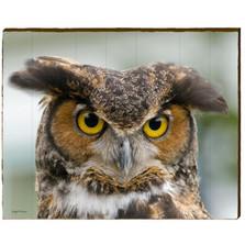 Great Horned Owl Wood Wall Art 30x24   Mill Wood Art   KOWL5-30x24