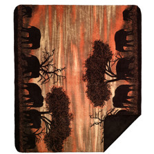 Elephant Throw Blanket | Sunset | Denali | 16185172