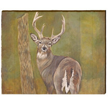 White Tail Deer Wood Wall Art 30x24 | Mill Wood Art | JDEE1-30x24